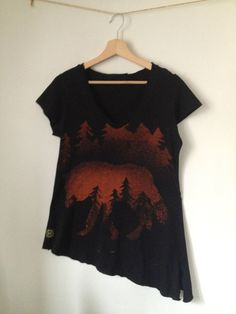 Wolves forest T-shirt by Elanthia on Etsy