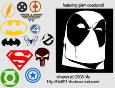 SPEECH BUBBLE SUPERHERO | The Ultimate Collection Of Photoshop Custom Shapes | Smashing Magazine