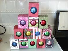 make boxes with cricut for ornaments
