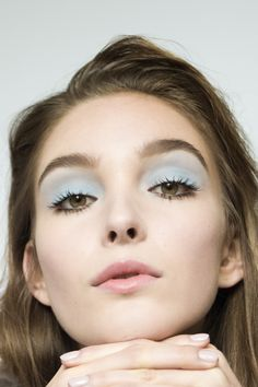 Pastel blue eyeshadow