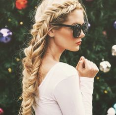 Fishtail and red lips