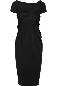 Perfect LBD Draped stretch-jersey dress by Donna Karan Clothes For Sale, Dresses For Sale, Pretty Outfits, Cool Outfits, Vogue, Discount Designer Clothes, Donna Karan, Playing Dress Up, Passion For Fashion