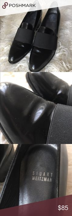 Stuart Weitzman Black Leather Loafers Flats $365 You are viewing a 100% Authentic pair of Stuart Weitzman 'Zoliver' Loafers. -100% leather with almond toe -These are in EXCELLENT condition! Few creases in the leather, nick on heel, bronze mark on side(barely noticeable). Please see pictures! -Size 8 -Retail $365! Feel free to take a look at my other items! Stuart Weitzman Shoes Flats & Loafers