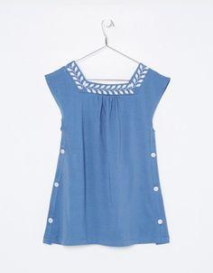NECK & NECK |  GIRL BLUE TONE SWEET DRESS - Dresses - GIRL
