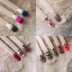 Wzorki, nailsart, paznokcie hybrydowe, manicure #piekniejszaty