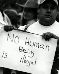 A @ezrepostapp  please share. No Human Is Illegal...