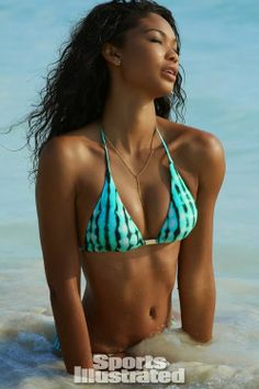Take a dip! Beautiful bikini model Chanel Iman for Sports Illustrated Swimsuit Issue 2014. #fitspiration