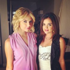 Ashley & Lucy off set,  backstage