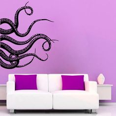 Octopus Tentacle wall decal art