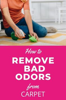 Funky smells in your home are never fun, but with pets, kids, it may be hard to avoid. Try the 8 cleaning agents in this post on how to deodorize your carpet. Safe Cleaning Products, Household Cleaning Tips, Cleaning Hacks, Hacks Diy, Cleaning Wood, Floor Cleaning, Carpet Smell, Clean Microfiber, How To Clean Carpet