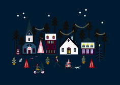 Christmastcard illlustrated by @saskiarasink; seen on HappyMakersBlog.com #freedownload