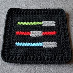 A Galaxy Far, Far Away | Not All Who Wander Are Lost 32 Star Wars Crochet, Crochet Stars, Crochet Motif, Crochet Hooks, Free Crochet, Crochet Patterns, Crochet Ideas, Stitch Patterns, Crotchet Blanket