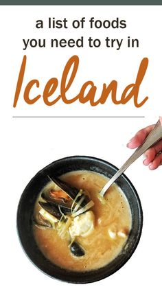 What does the food in Iceland taste like? Wondering what to eat in Iceland? Introducing an Icelandic food guide! Here is a list of the must-try meals during your trip to the land of fire and ice.