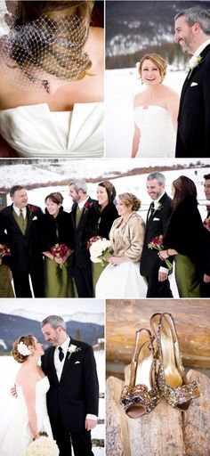 winter wedding photos   Winter Wedding At Devil's Thumb Ranch From IN Photography   Style Me ...