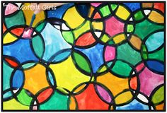 The Moffatt Girls: Easy Circle Painting Art