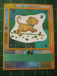 Golden Labrador Retriever Puppies and Butterflies by scrappyrat, $10.75