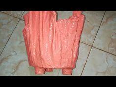 Maceta de toalla y cemento con patitas flower pot - YouTube
