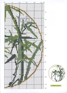 Borduurpatroon Bloemen - Planten *Cross Stitch Flowers - Plants  ~Japanse Bamboe 2/2~