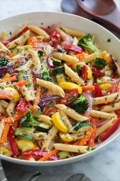 Pasta Primavera recipe from Cooking Classy is part of the Cool Mom Picks We. This Pasta Primavera recipe from Cooking Classy is part of the Cool Mom Picks We.,This Pasta Primavera recipe from Cooking Classy is part of the Cool Mom Picks We. Vegan Dinners, Healthy Dinner Recipes, Summer Pasta Recipes, Summer Vegetarian Recipes, Summer Pasta Dishes, Healthy Dinners For Two, Healthy Pasta Dishes, Easy Summer Dinners, Healthy Pasta Salad