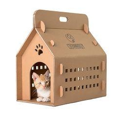 Cardboard box, cat box, cat carrier, eco carry box, cat house, cat bed, cat transport, cat furniture, cat cave, trending items, cats