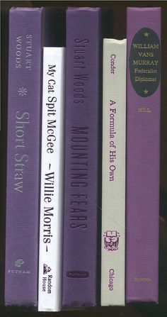 Purple White and Gray Books set of 5 Violet by CalhounBookStore, $14.99