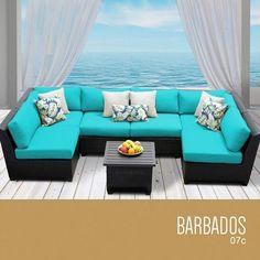 TKC Barbados 7 Piece Outdoor Wicker Patio Furniture Set * Click the swimwear for detailed description
