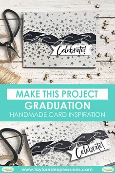 Heather Nichols of Taylored Expressions created this neutral-toned card, perfect for your next graduation card. Get a closer look, full supply lists and directions to make your own! College Graduation Cards Handmade, Graduation Diy, Card Making Tips, Making Ideas, Heather Nichols, Fathers Day Cards, School Colors, Masculine Cards, Homemade Cards