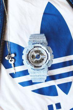 #Stilkompass Logo/Denim Adidas mit Casio Baby-G blau