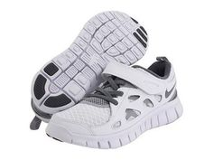 7057c59d5334 Nike Free Run 2 Kids Running Shoes Sneakers Trainers White Gray NR   eBay  Nike Free