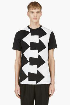 COMME DES GARÇONS HOMME PLUS Black & White Arrow T-Shirt