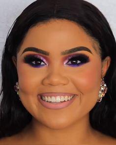– makeup tutorial for beginners for teens Purple Makeup Looks, Purple Eye Makeup, Fall Makeup Looks, Bridal Makeup Looks, Dark Skin Makeup, Smokey Eye Makeup, Natural Makeup, Makeup Spray, Make Up Inspiration