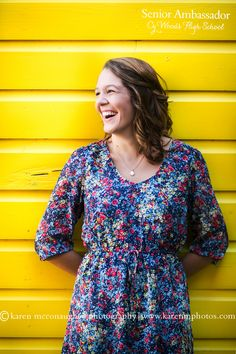 Female Senior Photography. Fun poses with bright colors