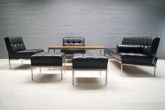 Constanze Leder Sitzgarnitur von Johannes Spalt für Wittmann, 1960er bei Pamono kaufen Johannes, Table, Furniture, Home Decor, Leather, House, Decoration Home, Room Decor, Tables