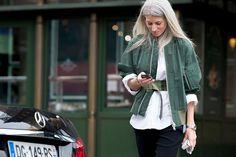 Khaki and white | HarperandHarley