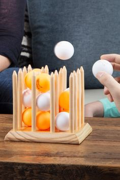wood games Bounce Battle Game by Battle Games: Ping Pong Family Fun Family Party Games, Family Game Night, Game Party, Group Games, Sleepover Party, Wood Games, Battle Games, Backyard Games, Outdoor Games