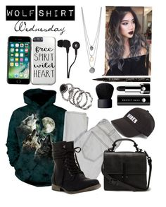 """Wolf Shirt Wednesday p.27"" by a-valen ❤ liked on Polyvore featuring Current/Elliott, Skullcandy, Marc Jacobs, Smith & Cult and NARS Cosmetics"