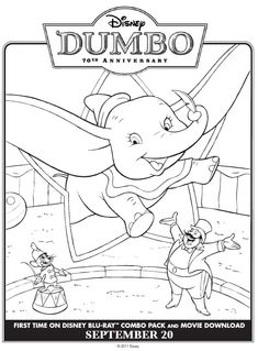 Dumbo the elephant Coloring Pages 15 - Free Printable Coloring Pages ...