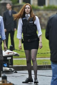 Amy Pond Outfits: Kissogram Outfit from 'The Eleventh Hour'
