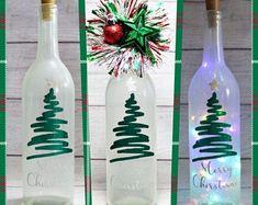 Santa-Christmas-Lighted Wine Bottle-Gift-Home Decor Painted Wine Bottles, Lighted Wine Bottles, Bottle Lights, Liquor Bottles, Wine Bottles Decor, Decorative Wine Bottles, Wine Bottle Gift, Diy Bottle, Wine Bottle Crafts