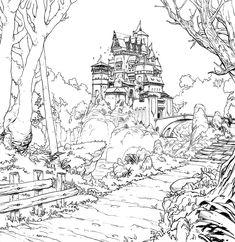 Bretonnia by RadoJavor castle prisoner landscape location