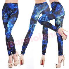 Leggings pantaloni fantasia spaziale leggins Galaxy galassia fuseaux donna moda in Abbigliamento e accessori, Donna: abbigliamento, Leggings | eBay