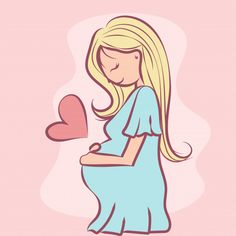 Mothers Day Drawings Discover Pregnant In Love Pregnant in love Premium Vector Pregnancy Memes, Pregnancy Art, Pregnancy Photos, Mother Art, Mother And Baby, Mom And Baby, Maternity Pictures, Baby Pictures, Baby Photos