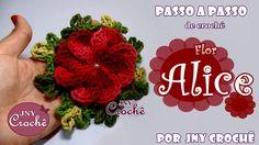 Flor Alice de crochê por JNY Crochê