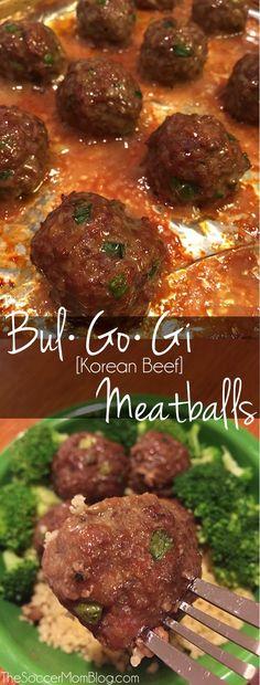 Bulgogi, Korean Beef Recipes, Asian Recipes, Korean Bbq Meatballs, Korean Dishes, Albondigas, Beef Dishes, Meat Dish, Asian Cooking