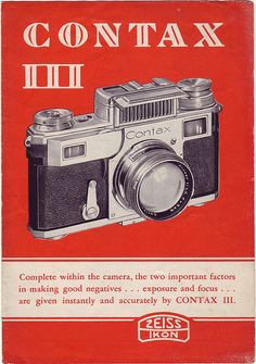 Contax III Brochure CAM70-101136 by sunivroc, via Flickr