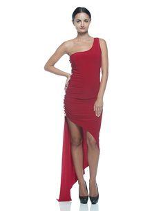 Women's Red Jeweled Beaded Ballroom Tango Salsa Latin Dance Party Formal Dress (Large) at Amazon Women's Clothing store: