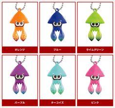 Splatoon Squid keyrings by Takara Tomy