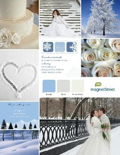Winter wedding theme.