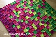 Colorful Crochet Blanket Pattern, Flying Colors. $5.50, via Etsy.