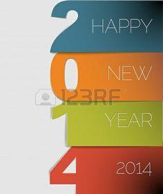 Happy New Year 2014 Creative Card Design!